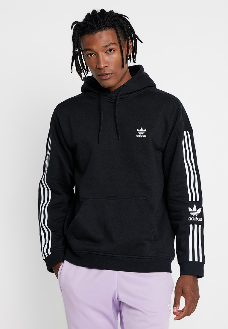 adidas Originals - ADICOLOR TECH HOODY - Hoodie - black
