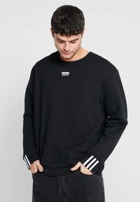 adidas Originals - REVEAL YOUR VOICE CREW - Sudadera - black - 0