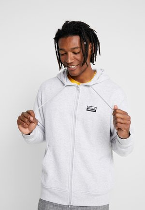 REVEAL YOUR VOICE HOODY - Mikina na zip - light grey heather