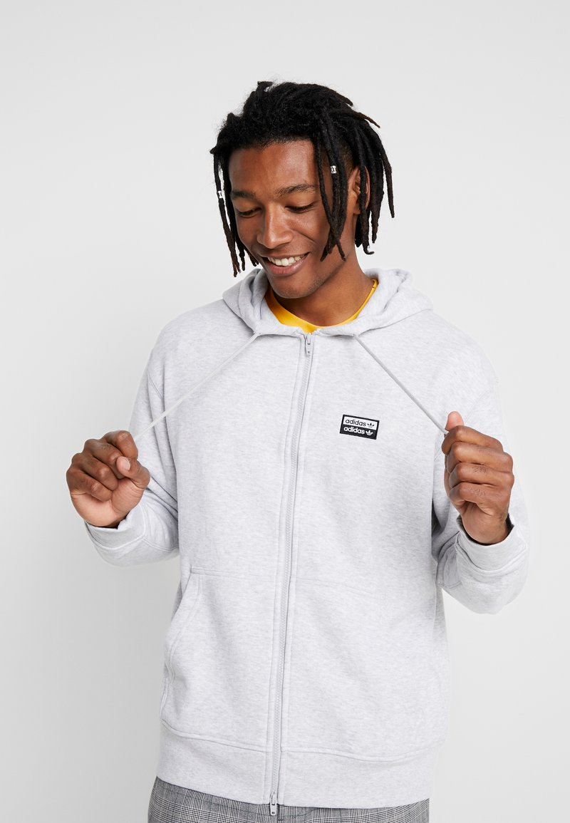 adidas Originals - REVEAL YOUR VOICE HOODY - Sweatjacke - light grey heather
