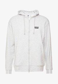adidas Originals - REVEAL YOUR VOICE HOODY - veste en sweat zippée - light grey heather - 5