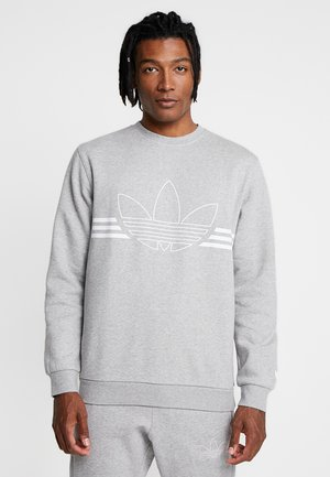 OUTLINE PULLOVER - Sweatshirt - medium grey heather
