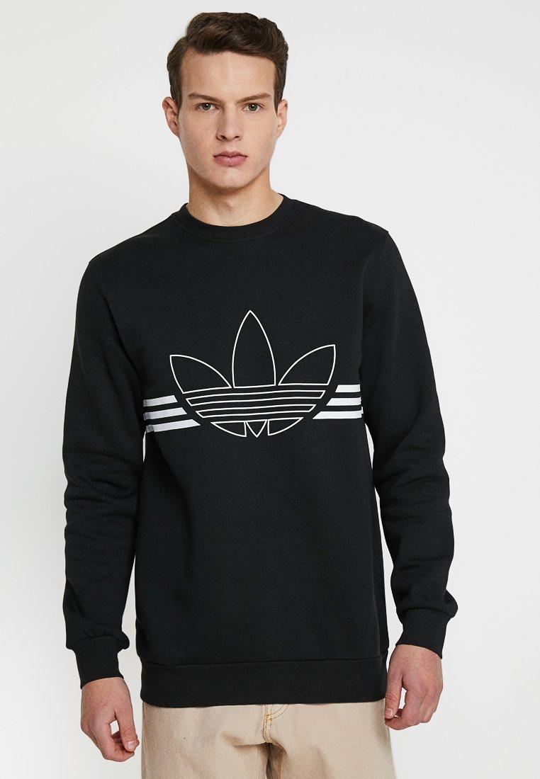 adidas Originals - OUTLINE PULLOVER - Sweatshirt - black