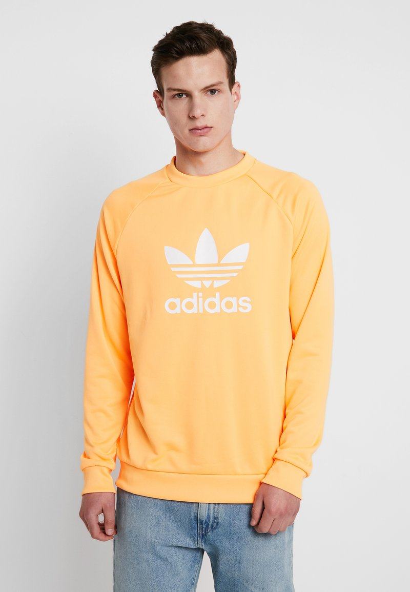 adidas Originals - TREFOIL CREW - Sweatshirt - flash orange/white