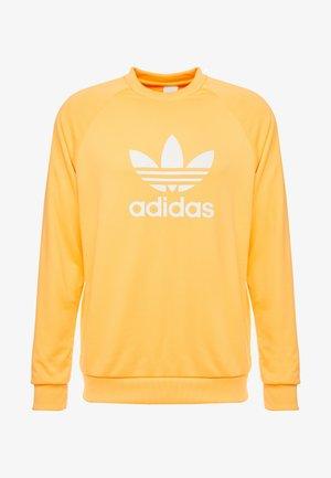 TREFOIL CREW - Sweatshirt - flash orange/white