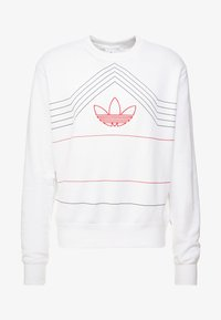adidas Originals - RIVALRY CREW - Mikina - white/scarlet - 3
