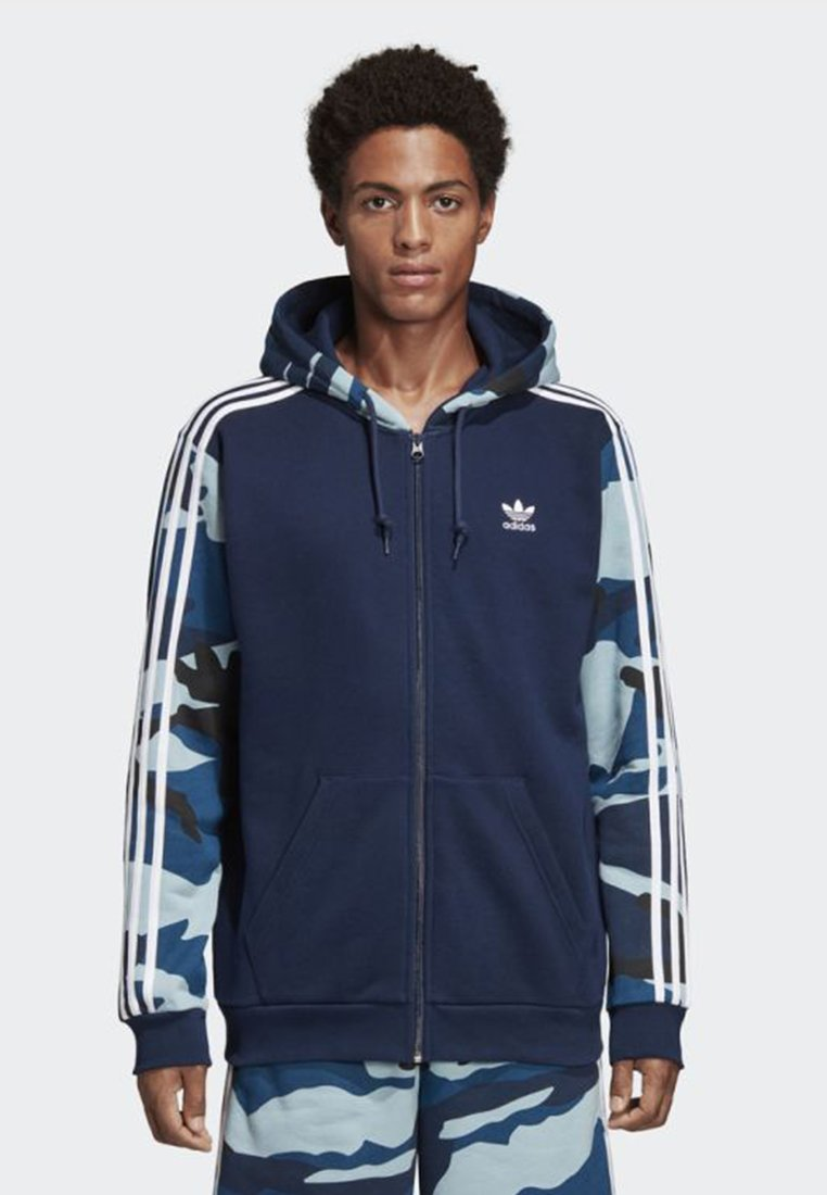 Adidas Sweat En Camouflage Originals Zippée Blue HoodieVeste GqSUzMpV