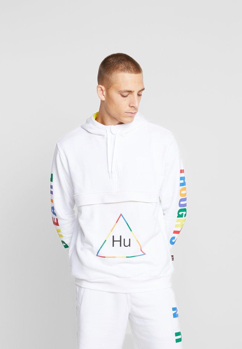 adidas Originals - PHARRELL WILLIAMS 3 STREIFEN HOODIE - Hoodie - white