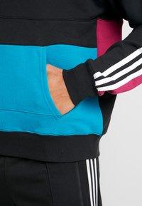 adidas Originals - BLOCK HOODY - Sweat à capuche - berry/active teal - 5
