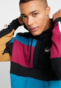 adidas Originals - BLOCK HOODY - Sweat à capuche - berry/active teal - 3