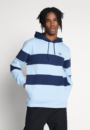 STRIPE HOODY - Luvtröja - night indigo/clear sky