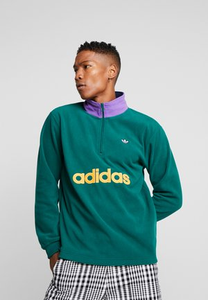 Fleece trui - collegiate green
