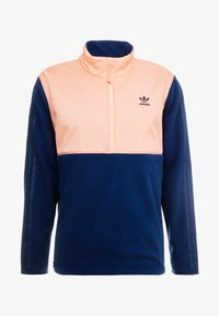 adidas Originals - WINTERIZED HALF-ZIP TOP - Fleecetrøjer - coll navy/chalk coral /ref silver - 3