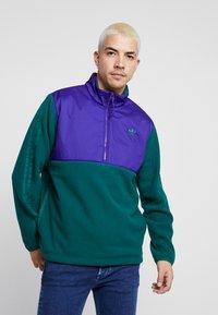 adidas Originals - WINTERIZED HALF-ZIP TOP - Fleece jumper - coll green / coll purple / solar green / ref silver - 0