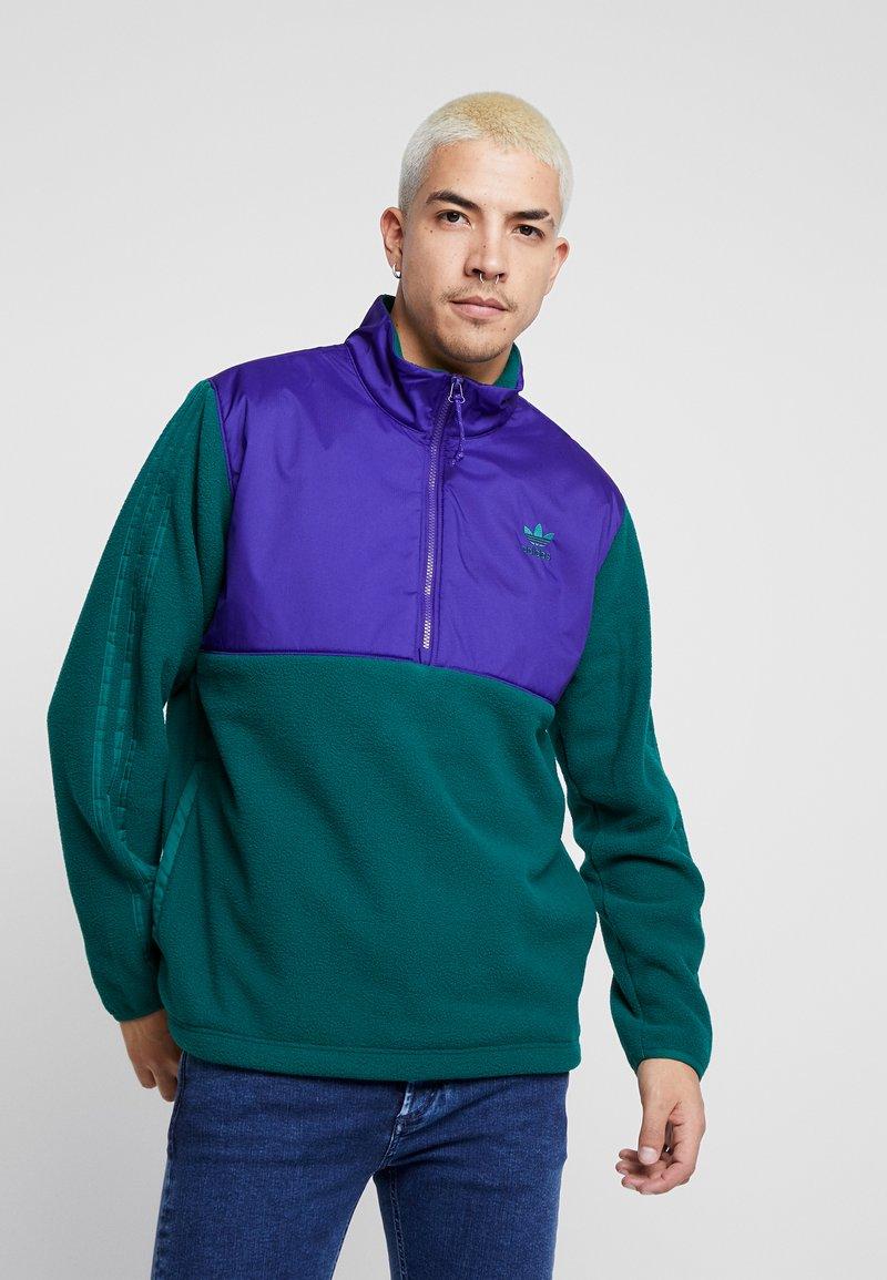 adidas Originals - WINTERIZED HALF-ZIP TOP - Fleece trui - coll green / coll purple / solar green / ref silver