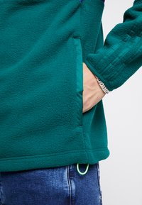 adidas Originals - WINTERIZED HALF-ZIP TOP - Fleece jumper - coll green / coll purple / solar green / ref silver - 5
