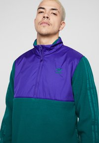 adidas Originals - WINTERIZED HALF-ZIP TOP - Fleece trui - coll green / coll purple / solar green / ref silver - 3