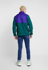 adidas Originals - WINTERIZED HALF-ZIP TOP - Fleece trui - coll green / coll purple / solar green / ref silver