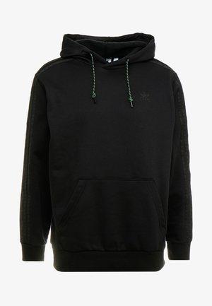 WINTERIZED HOODIE - Luvtröja - black /dark green