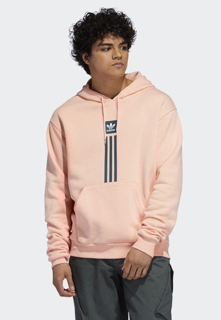 adidas Originals - SOLID PILLAR HOODIE - Kapuzenpullover - pink