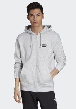 FULL-ZIP HOODIE - Hoodie met rits - grey