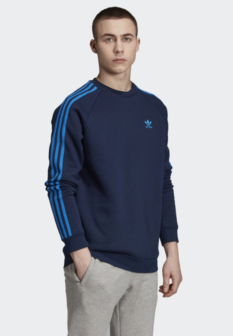 adidas Originals - 3-STRIPES CREWNECK SWEATSHIRT - Sweatshirt - blue