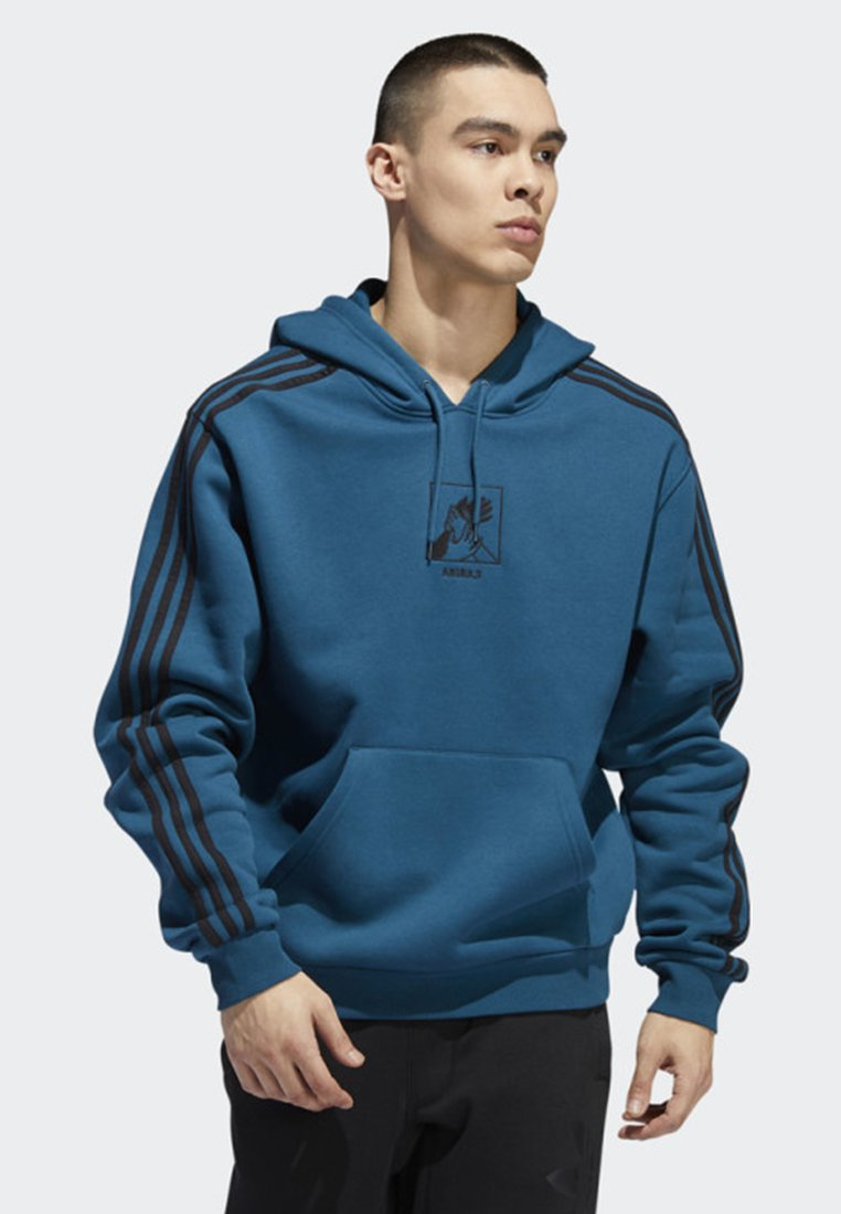 adidas Originals - MANOLES ART HOODIE - Sweat à capuche - blue