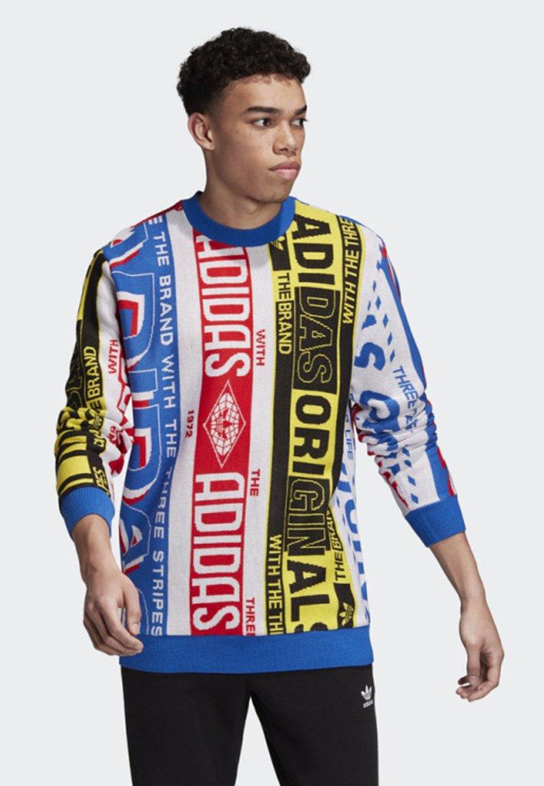 adidas Originals - KNIT SCARF CREWNECK SWEATSHIRT - Sweatshirt - multicolour