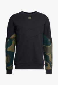 adidas Originals - CAMO CREW - Mikina - black/multicolor - 4