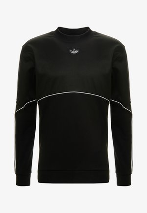 OUTLINE TREFOIL CREW LONG SLEEVE PULLOVER - Mikina - black