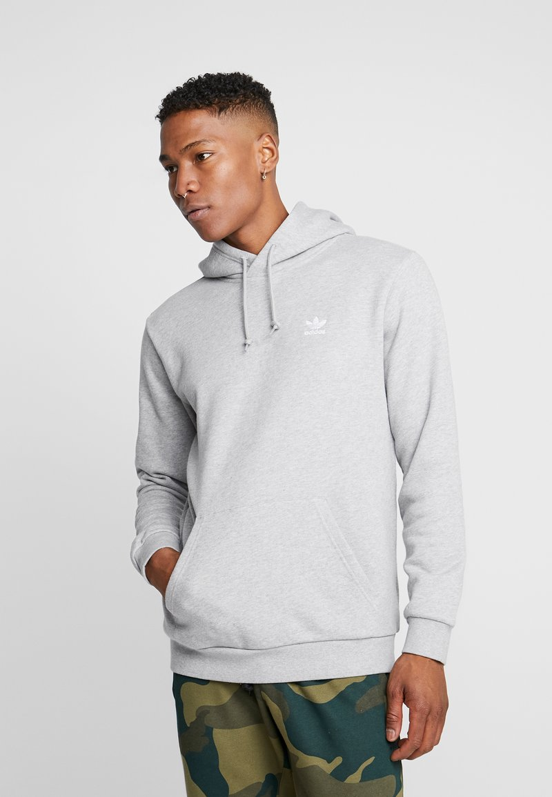 adidas Originals - ESSENTIAL HOODY - Hoodie - medium grey heather
