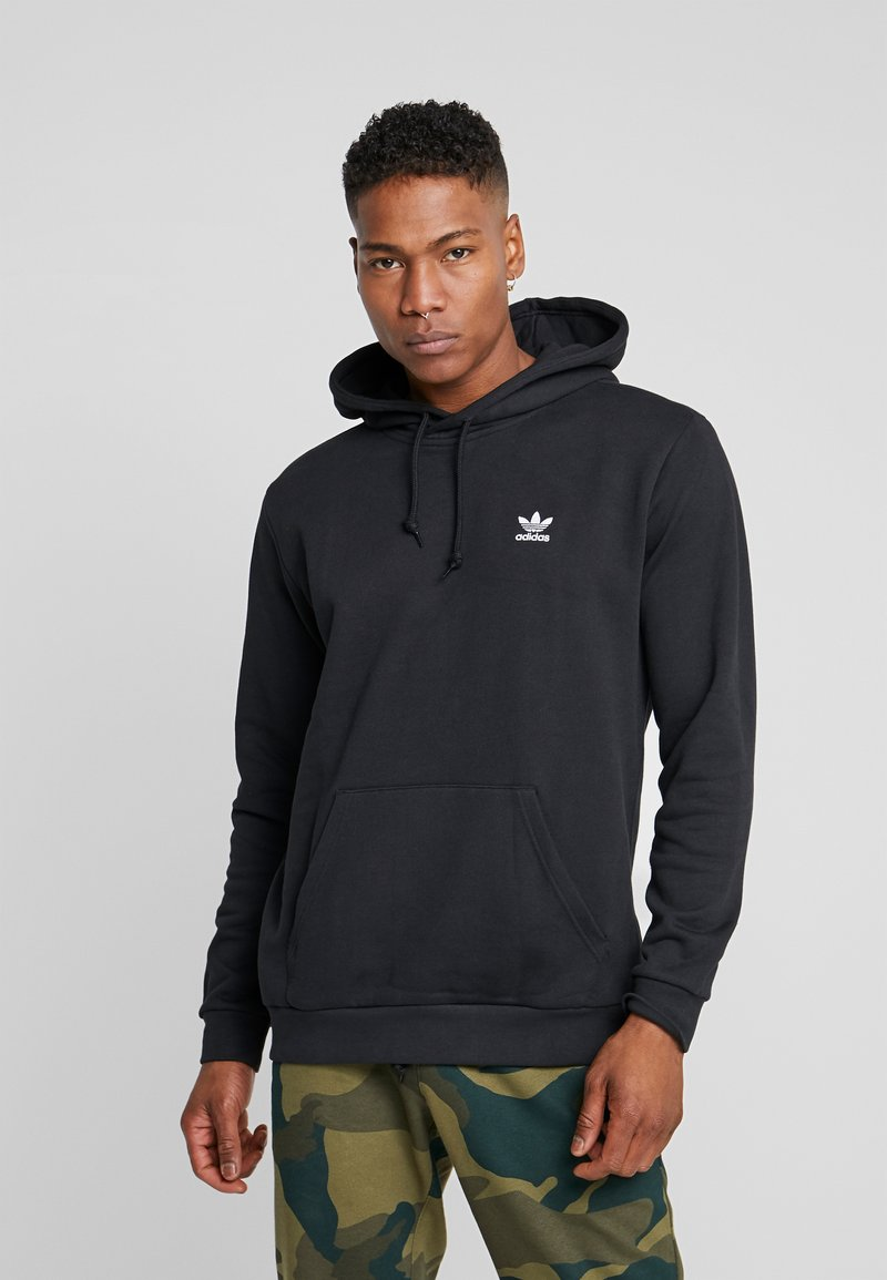 adidas Originals - ESSENTIAL HOODY - Sweat à capuche - black