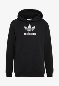 adidas Originals - ADICOLOR PREMIUM TREFOIL HODDIE SWEAT - Bluza z kapturem - black - 3