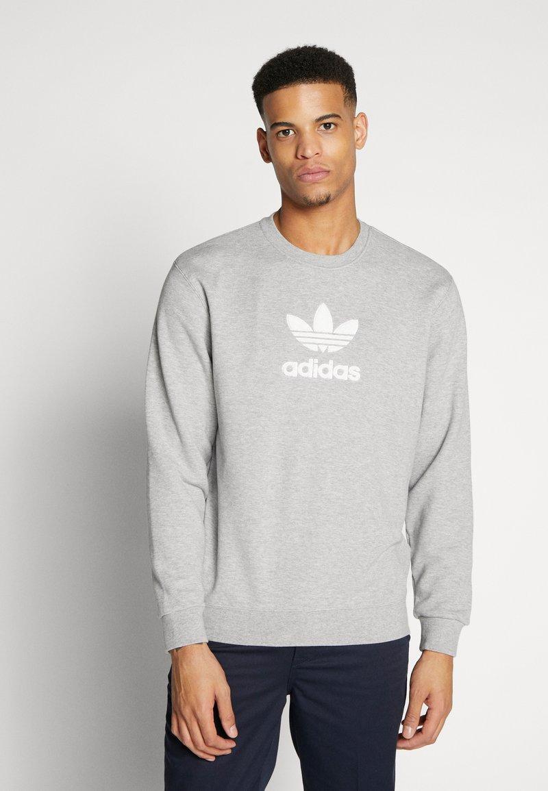 adidas Originals - ADICOLOR PREMIUM LONG SLEEVE PULLOVER - Sweater - medium grey heather