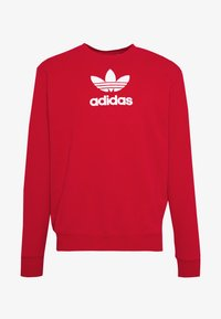 adidas Originals - ADICOLOR PREMIUM LONG SLEEVE PULLOVER - Collegepaita - lusred - 4