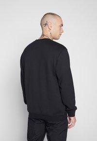 adidas Originals - ADICOLOR PREMIUM LONG SLEEVE PULLOVER - Collegepaita - black - 2