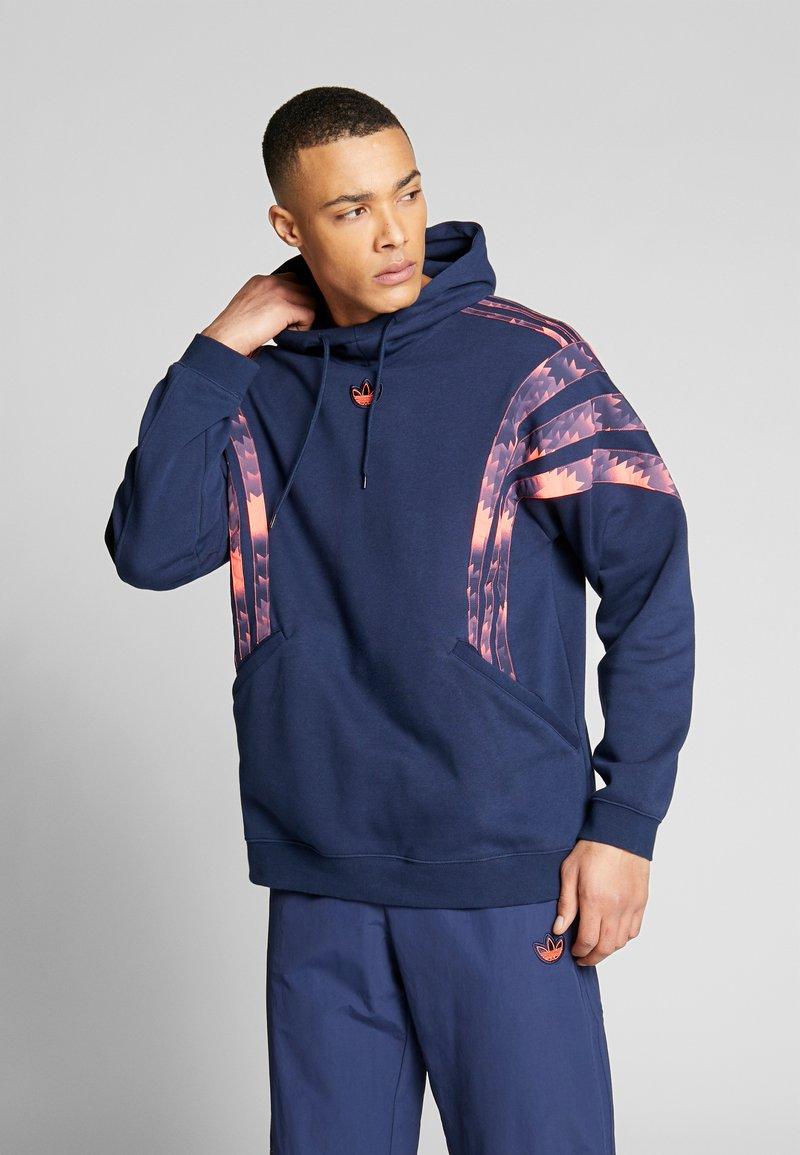 adidas Originals - FOOTBALL HOODIE - Sweat à capuche - blue