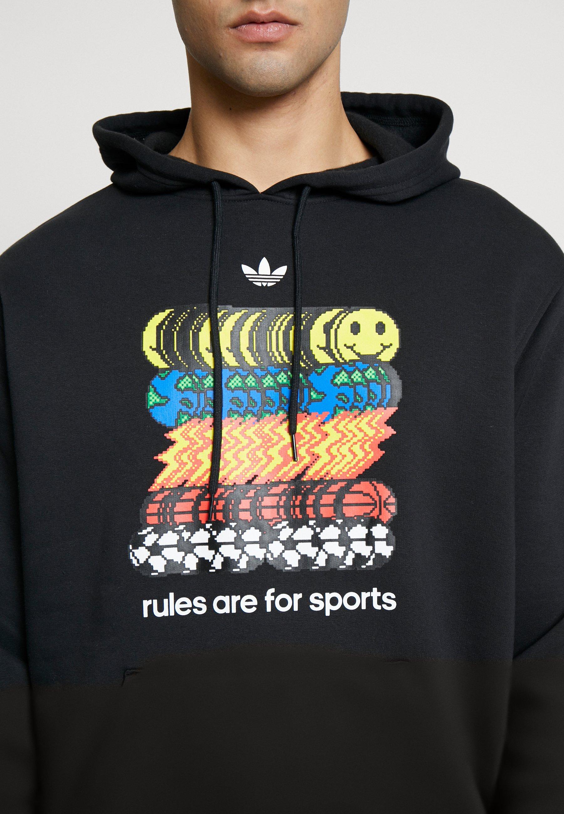 adidas Originals Bluza z kapturem - black