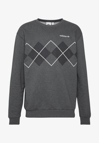 adidas Originals - ARGYLE CREWNECK LONG SLEEVE PULLOVER - Collegepaita - mottled dark grey - 4