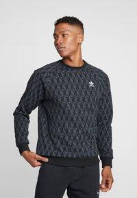 adidas Originals - MONO CREW - Sweatshirt - black - 0
