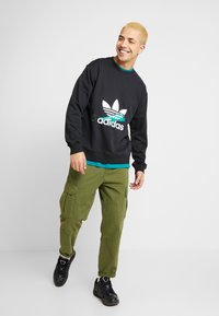 adidas Originals - PROJECT-3 LONG SLEEVE PULLOVER - Collegepaita - black - 1