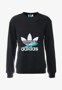adidas Originals - PROJECT-3 LONG SLEEVE PULLOVER - Collegepaita - black
