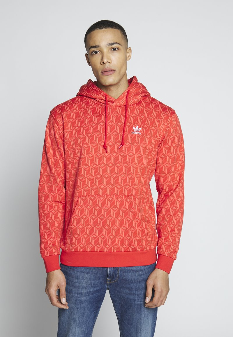 adidas Originals - GRAPHICS GRAPHIC HODDIE SWEAT - Hoodie - red/stiora