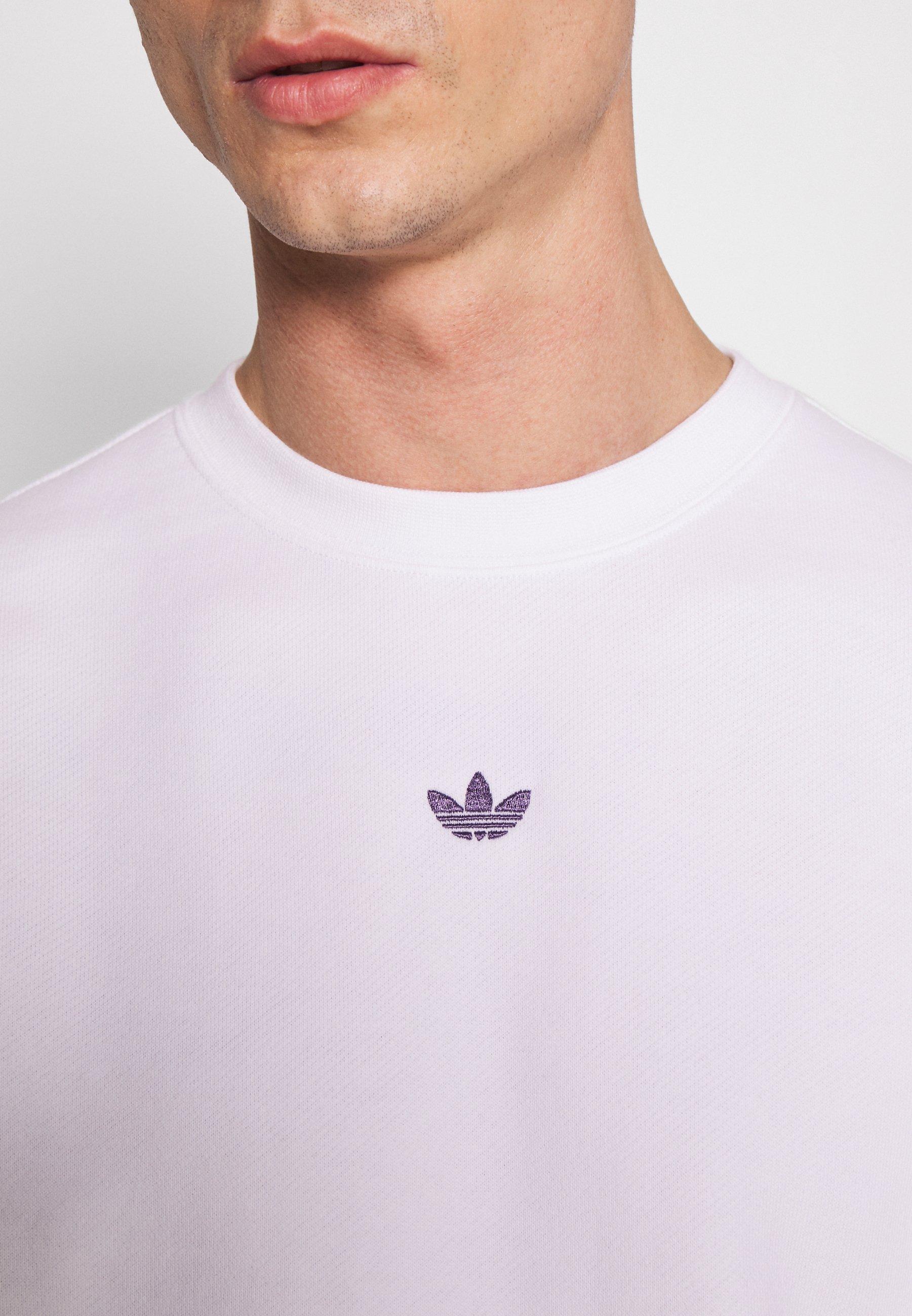 adidas Originals SPORT COLLECTION LONG SLEEVE PULLOVER - Felpa - white