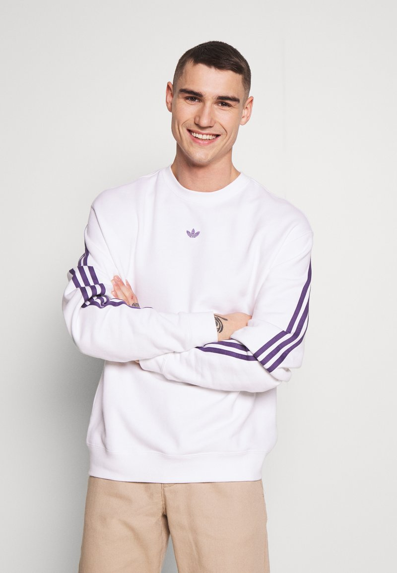 adidas Originals - SPORT COLLECTION LONG SLEEVE PULLOVER - Sweatshirt - white