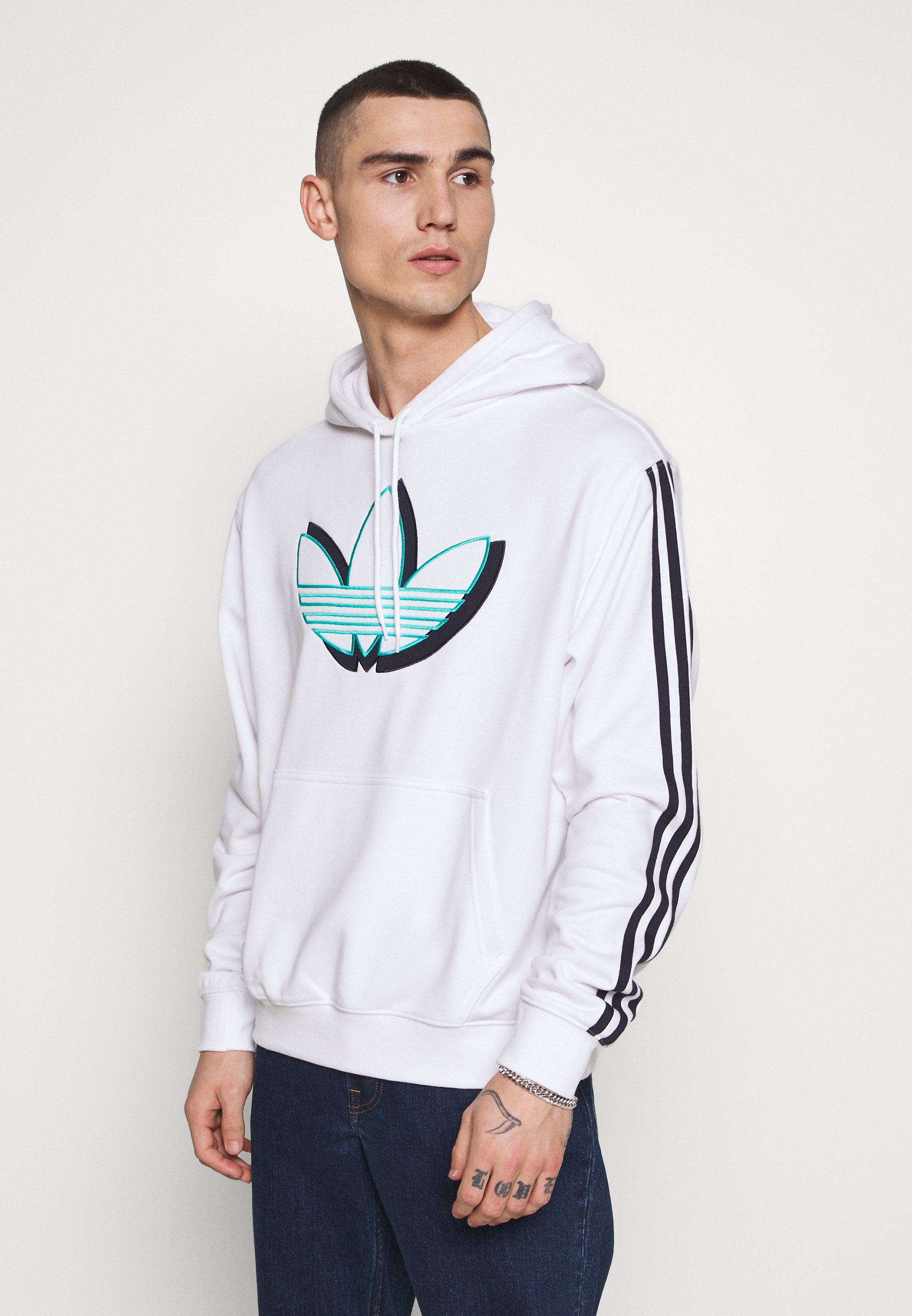 adidas Originals SPORT COLLECTION HODDIE SWEAT - Bluza z kapturem - white
