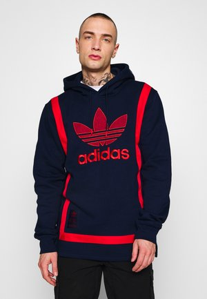 WARMUP HOODY - Sweat à capuche - conavy/colred