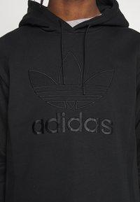 adidas Originals - WARMUP HOODY - Mikina skapucí - black/goldmt - 5
