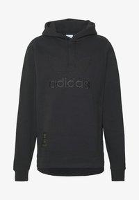adidas Originals - WARMUP HOODY - Mikina skapucí - black/goldmt - 4