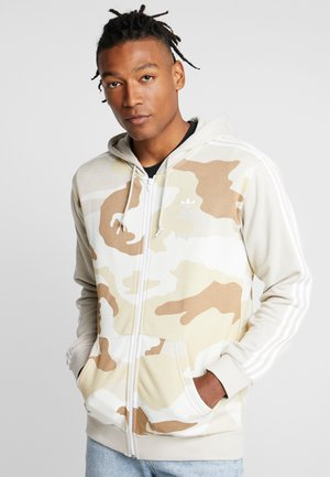 CAMO HOODY - veste en sweat zippée - clear brown